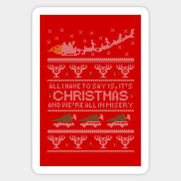 Christmas Vacation Misery Christmas Sweater Sticker Teepublic