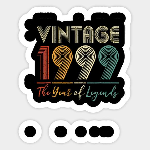 Vintage 1999 21st Birthday Gift Ideas Men Women Him Her T Shirt Vintage 1999 21st Birthday Gift Ideas M Aufkleber Teepublic De