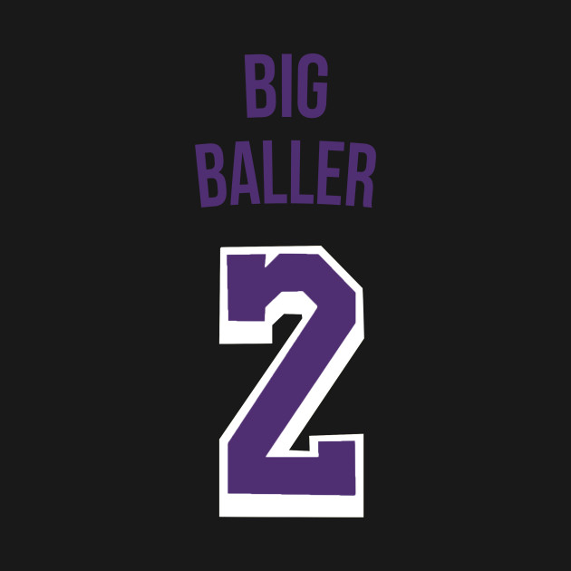 bd67823a6 Lonzo Ball  Big Baller  Nickname Jersey - Los Angeles Lakers - Nba ...