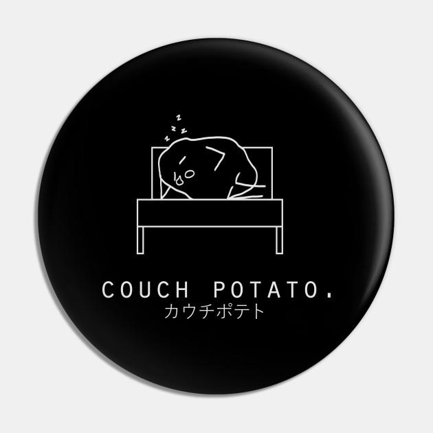 Couch Potato Minimalist/Simple Art (Black)