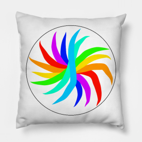 bright colors pillows teepublic