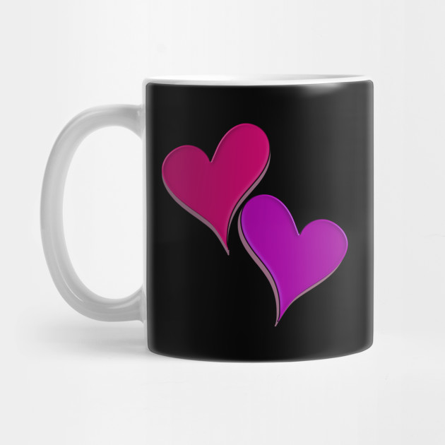 asymetric hearts pink, valentine's day, romantic Mug