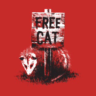 Free cat possum t-shirts
