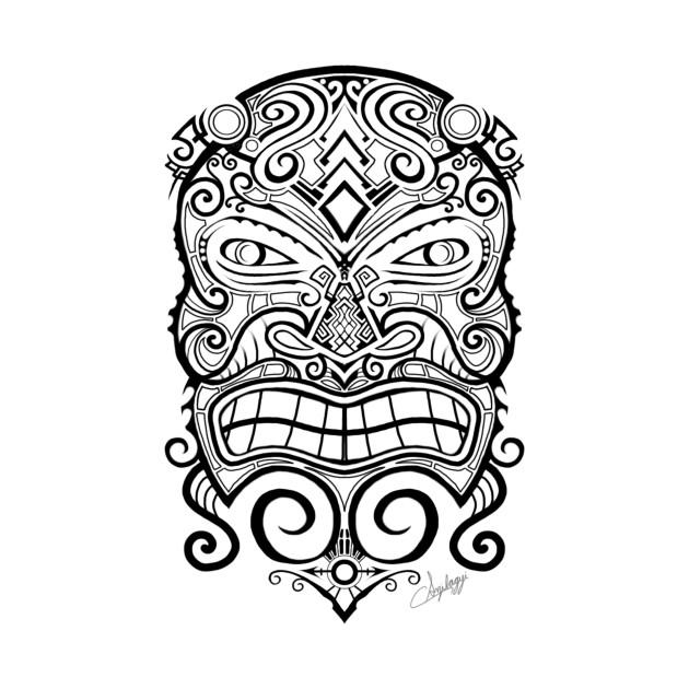 7bcd1d621dfa7 Tiki Mask Tattoo - Tiki Tiki - Pillow   TeePublic