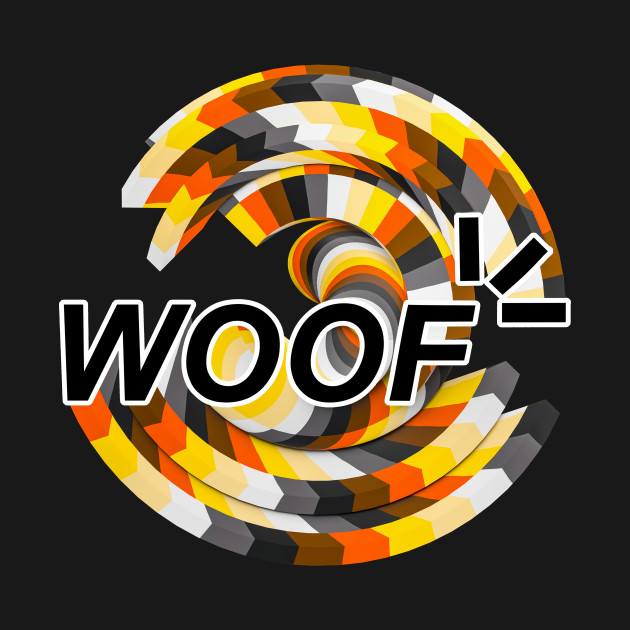 WOOF word twisted and colorful Bear Gay flag LGBTQ