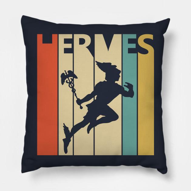 Cuscini Hermes.Vintage Retro Greek God Hermes Hermes Cuscino Teepublic It