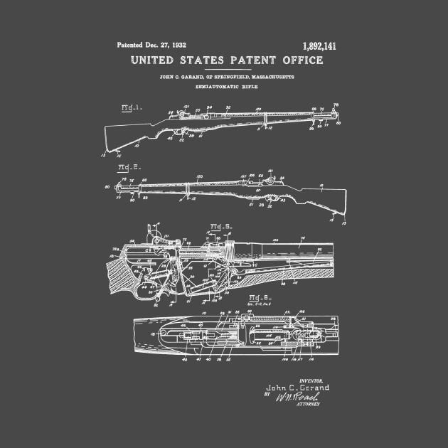 M1 Garand Rifle Patent White
