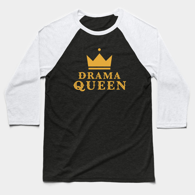 00248f0131 Classy Retro Drama Queen Crown - Drama Queen - Camiseta Beisbol ...