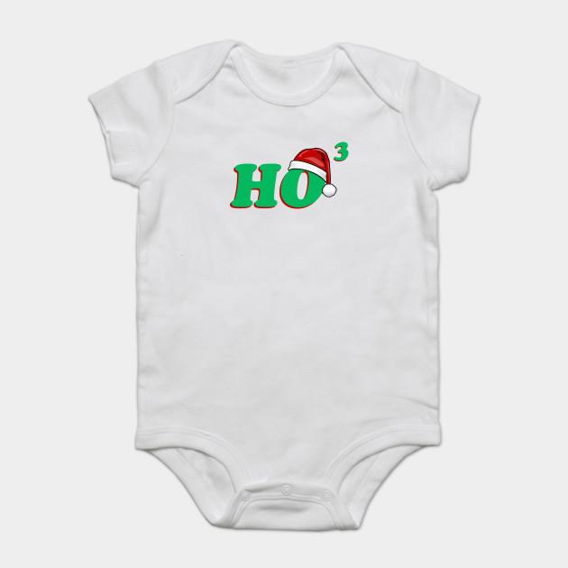 f9bf7fc43 Ho 3 (Cubed) Christmas Humor - Christmas - Onesie | TeePublic