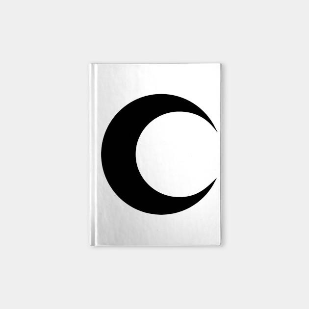 Moon Knight Classic Symbol Black Clean Moon Knight Notebook