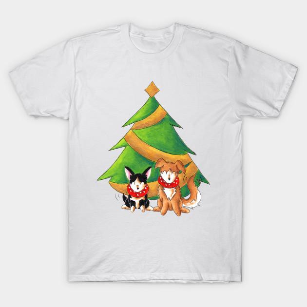 3362d8cec2d6 Festive Friends - Xmas Dogs - T-Shirt
