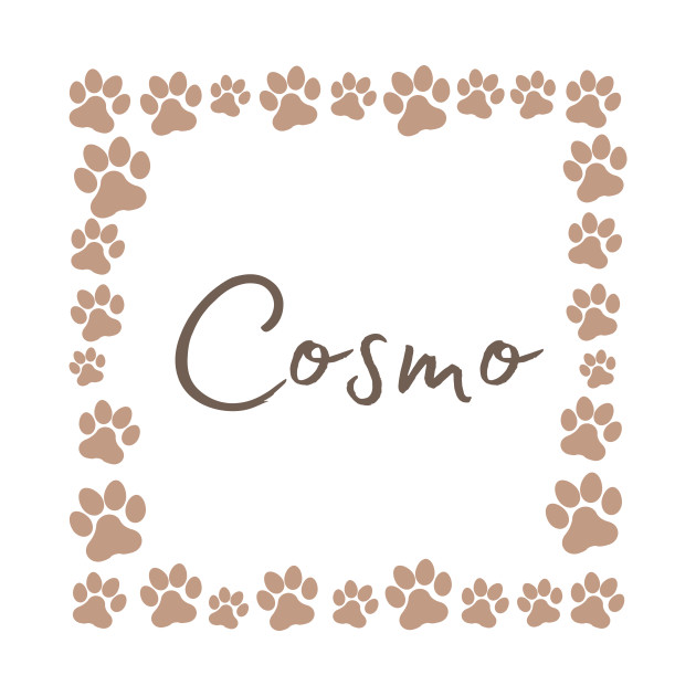 Pet name tag - Cosmo