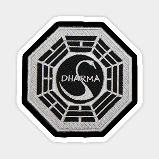 """BUTTONS LOST logo shirt poster art print patch DHARMA INITIATIVE 1/"""" PINS"""