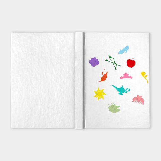 Princess Symbol Pattern Disney Princesses Notebook Teepublic