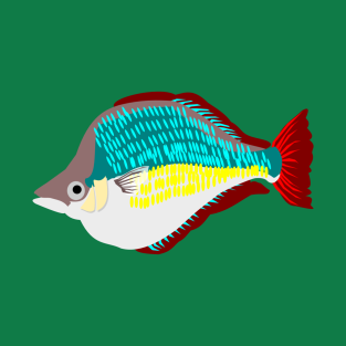 Red Rainbowfish t-shirts