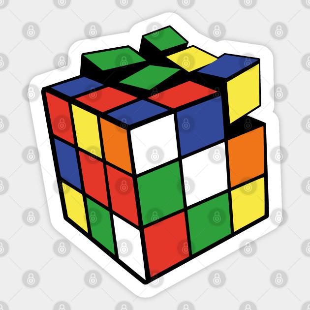Rubik's Revenge - Rubiks Cube - Sticker   TeePublic AU