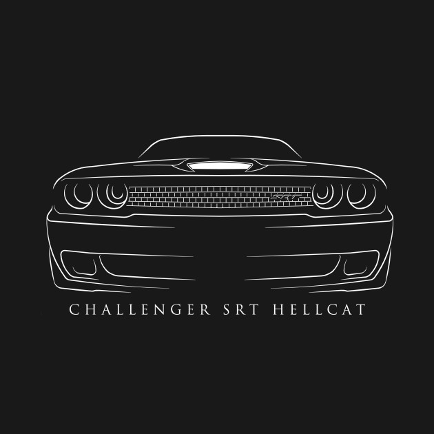 Dodge Challenger Srt Hellcat Muscle Car Long Sleeve T Shirt