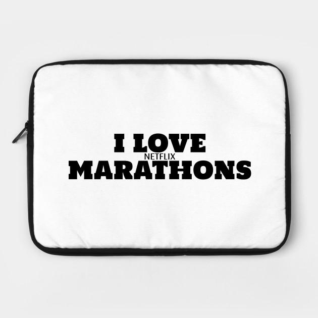 Netflix Marathon - Black Text