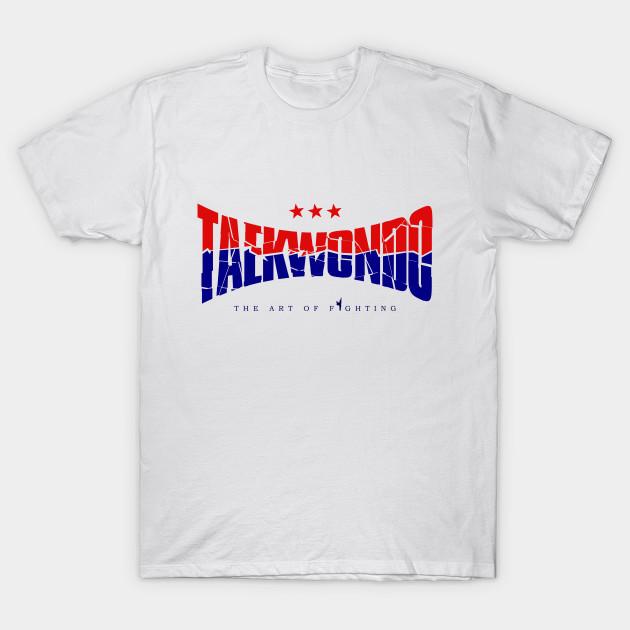 66773574ed31 Taekwondo Logo Red and Blue - Taekwondo - T-Shirt   TeePublic