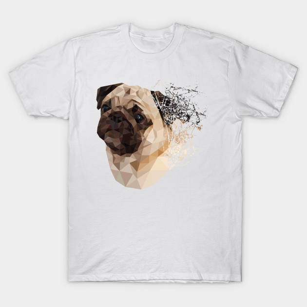 60d4da9f1c41 Pug Shattered Designer T-Shirt for Dog Lovers - Pugs - T-Shirt ...