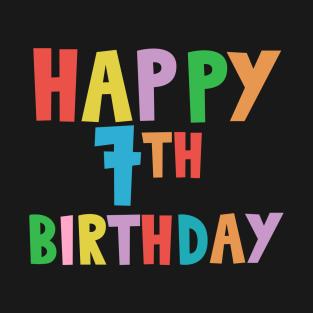 63045ea5 7th Birthday Kids T-Shirts | TeePublic