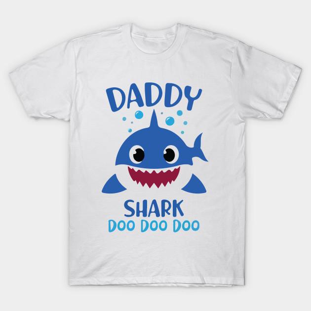 Family of Sharks Tshirts, Daddy Shark, mommy shark, brother shark, sister  shark Shirt  Funny Shirt Dad Singing Funny Shark Baby Shark