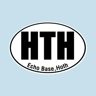 Hoth Travel Sticker t-shirts