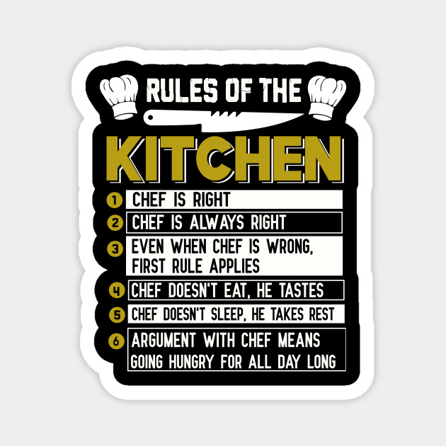 rules of the kitchen funny chefs t shirt and chefs gift funny