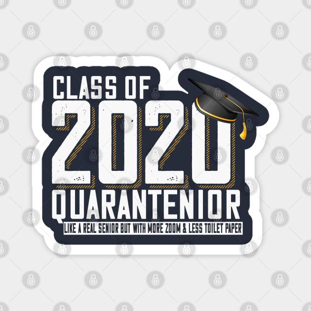 Go All Out Adult Class of 2020 Quarantenior Funny Graduate Quarantine T-Shirt