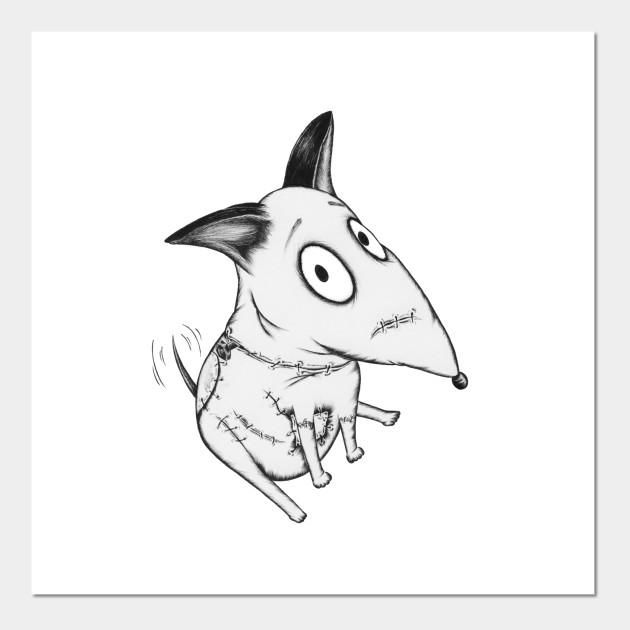Sparky Frankenweenie Bull Terrier Affiche Et Impression D Art Teepublic Fr