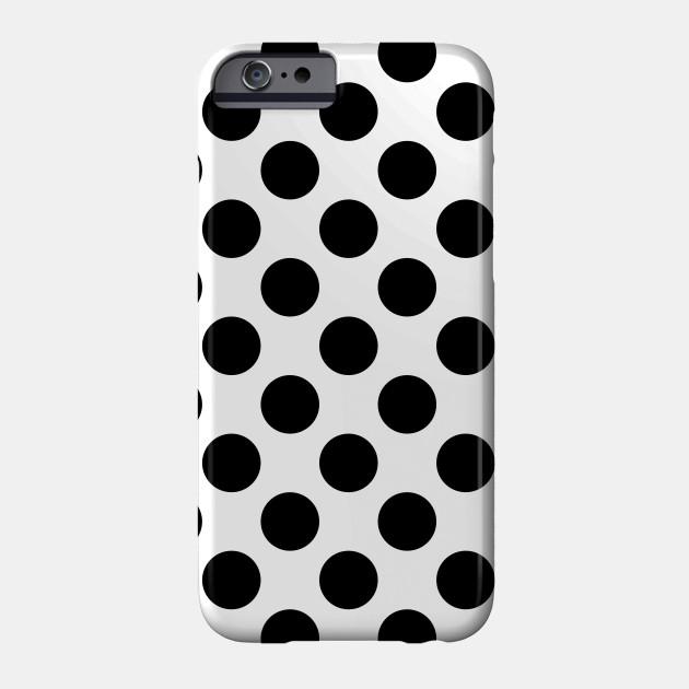 Polka Dots Spots Dotted Pattern White Black