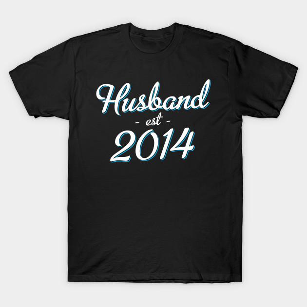 4th Wedding Anniversary Gift Husband Est 2014 Husband Est 2014
