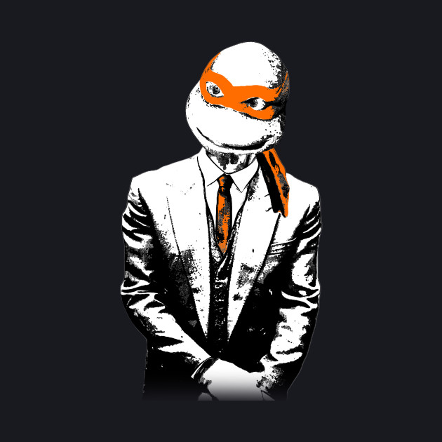 Orange Suit and Tie