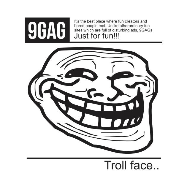 9gag troll face 9gag t shirt teepublic 1135610 1 voltagebd Image collections