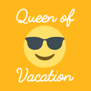 Queen of vacation with emoji t-shirts