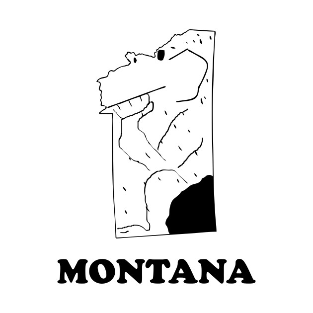 A funny map of Montana