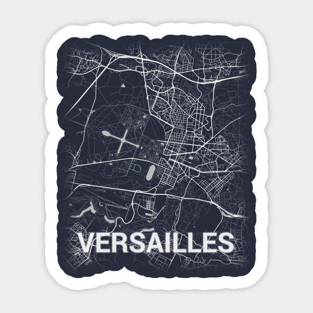 Map Of Yvelines France.Versailles France Yvelines City Map Versailles Sticker Teepublic