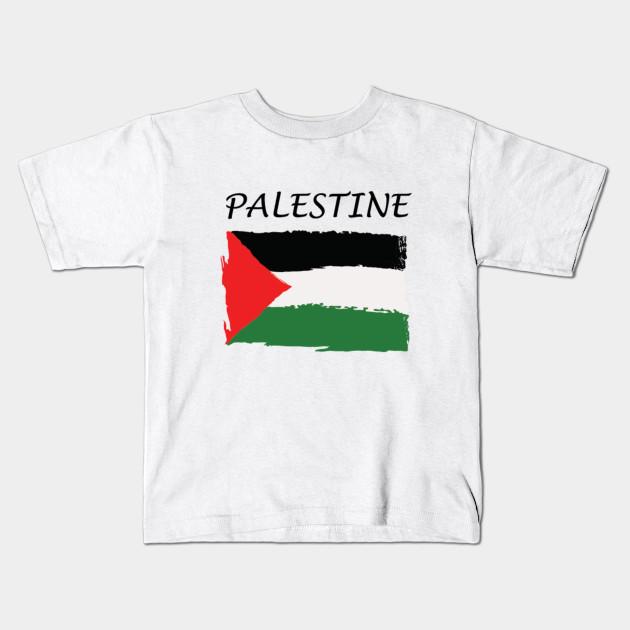 bf76811bf96 Simple Palestinian flag - Palestinian Flag - Kids T-Shirt | TeePublic