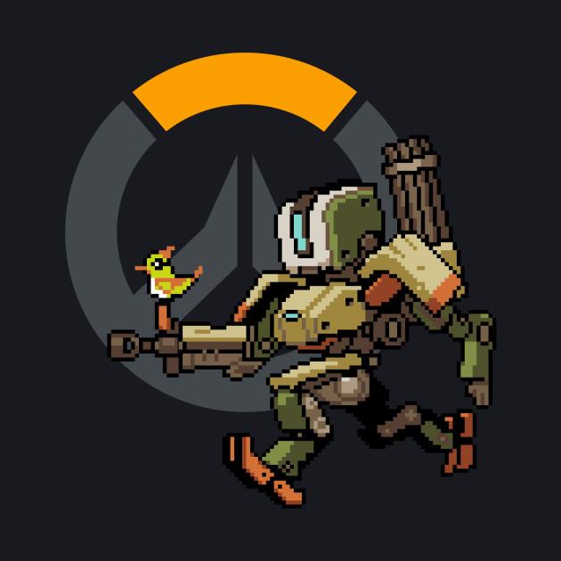 Overwatch - 16-Bit Bastion W/ Overwatch Logo