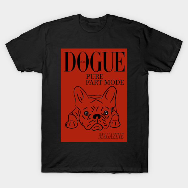 DOGUE MAGAZINE Pure Fart Mode Edt Red T-Shirt