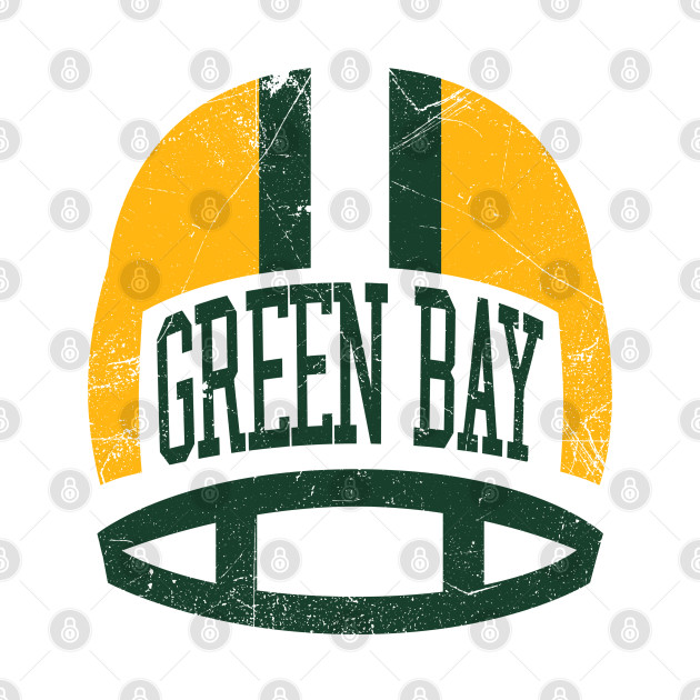 Green Bay Retro Helmet - White