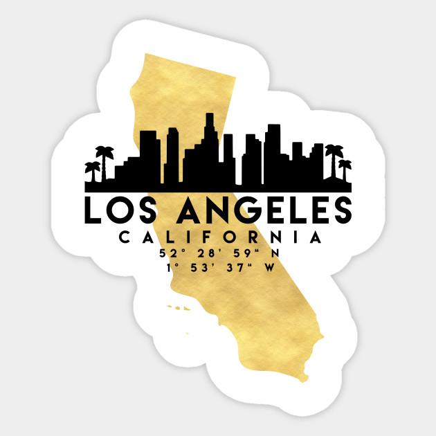 Los Angeles California Mapa.Los Angeles California Skyline Map Art