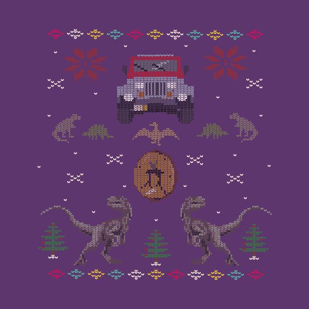 Ugly Jurassic Christmas Sweater Jurassic Park Kids T Shirt