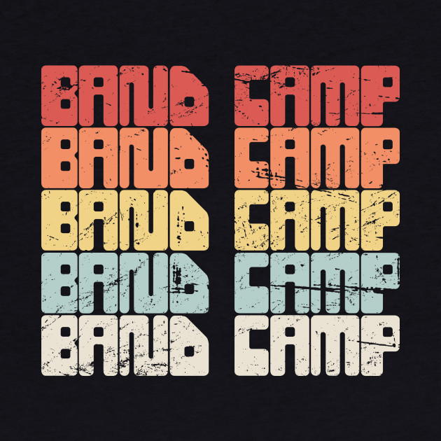 Retro 80s BAND CAMP Text | Marching Band