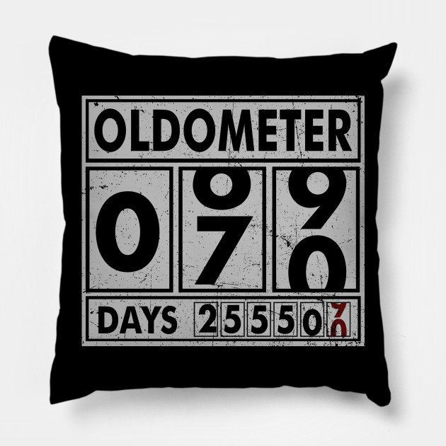 OLDOMETER 70 Years Old Made In 1948 70th Birthday Pillow