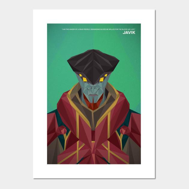 Geometric Javik - Mass Effect 3 - Posters and Art Prints | TeePublic UK