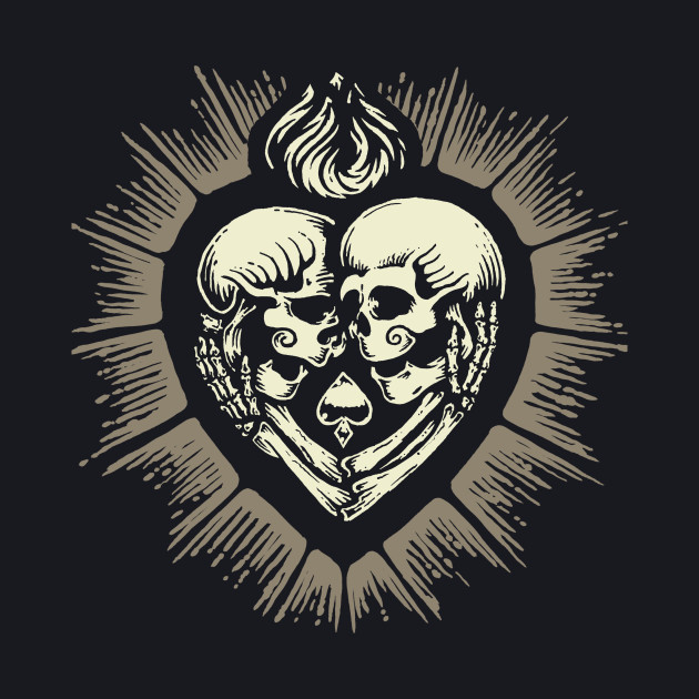 SACRED HEART SKULL LOVERS