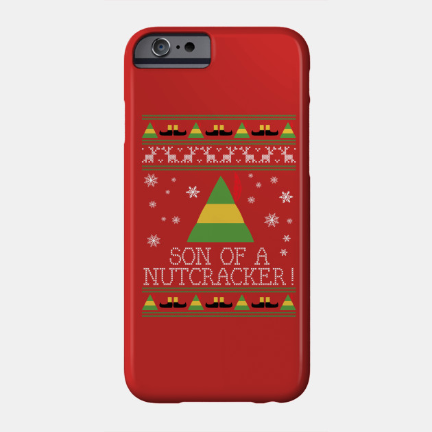 Son Of A Nutcracker Elf Quote Christmas Knit