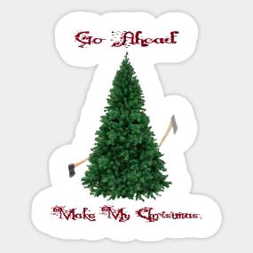 Bloody Christmas Tree.Bloody Christmas Stickers Teepublic