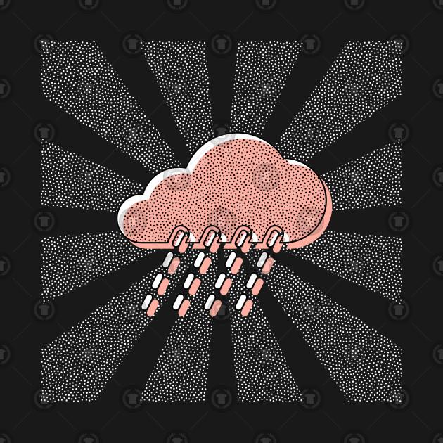 Rain Clouds Vintage Art